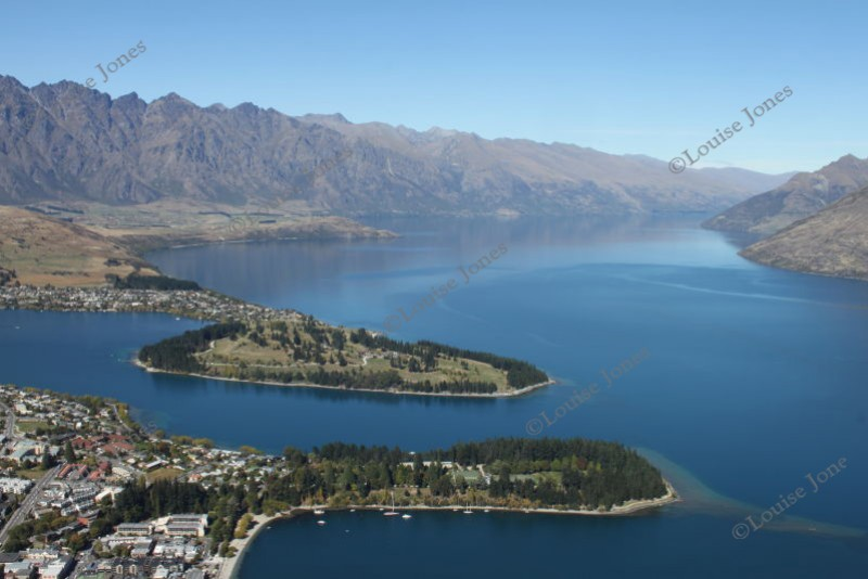 Queenstown and Lake Wakatipu South Island New Zealand